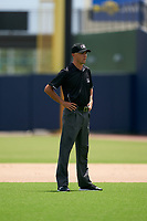 Umpire Kaleb Martin during a Gulf Coast League game between the GCL Mets and GCL Nationals on August 12, 2019 at FITTEAM Ballpark of the Palm Beaches in Palm Beach, Florida.  GCL Nationals defeated the GCL Mets 7-3.  (Mike Janes/Four Seam Images)