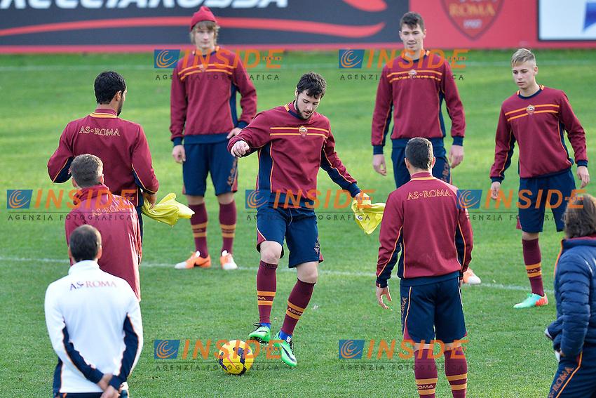 Mattia Destro (C) <br /> Roma 03-01-2014 Trigoria, As Roma training. Allenamento - Football Calcio Serie A 2013/2014  Foto Andrea Staccioli / Insidefoto