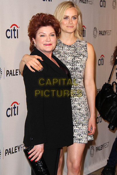 HOLLYWOOD, CA - March 14: Kate Mulgrew, Taylor Schilling at the 31st PALEYFEST Presents: &quot;Orange Is The New Black,&quot; Dolby Theater, Hollywood,  March 14, 2014.  <br /> CAP/MPI/JO<br /> &copy;Janice Ogata/MediaPunch/Capital Pictures