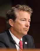 """United States Senator Rand Paul (Republican of Kentucky) questions the witnesses during the Senate Foreign Relations Committee hearing on """"Authorization of Use of Force in Syria""""  on Capitol Hill in Washington, D.C. on Tuesday, September 3, 2013.<br /> Credit: Ron Sachs / CNP"""