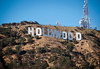Photo from OxyEngage 2011, Hollywood sign. Hosted by Occidental College's Office of Student Life, the program is for incoming students. August 25, 2011. (Photo by Marc Campos, Occidental College Photographer)