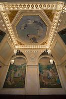 Europe/République Tchèque/Prague: La Maison Municipale-Edifice Art Nouveau qui se dresse  à l'emplacement de l'ancien Palais Royal Salon peintures symboliques