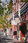 Downtown Missoula, Montana scene on Higgins Avenue