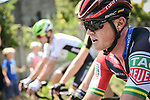 Simon Gerrans (AUS) BMC Racing Team in action during Stage 9 of the 2018 Tour de France running 156.5km from Arras Citadelle to Roubaix, France. 15th July 2018. <br /> Picture: ASO/Pauline Ballet | Cyclefile<br /> All photos usage must carry mandatory copyright credit (&copy; Cyclefile | ASO/Pauline Ballet)