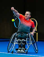 Alphen aan den Rijn, Netherlands, December 15, 2018, Tennispark Nieuwe Sloot, Ned. Loterij NK Tennis, Wheelchair men's semifinal: Mitchel Graauw (NED)<br /> Photo: Tennisimages/Henk Koster