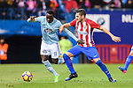 Pione Sisto Ifolo Emirmija (l) of RC Celta de Vigo fights for the ball with Saul Niguez Esclapez of Atletico de Madrid during their La Liga match between Atletico de Madrid and RC Celta de Vigo at the Vicente Calderón Stadium on 12 February 2017 in Madrid, Spain. Photo by Diego Gonzalez Souto / Power Sport Images