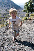 Felix at the Paricutin Volcanoe, Mexico's youngest mountain. Semana Santa (Holy Week) in Michoacan with family and Malcolm.  Mexico