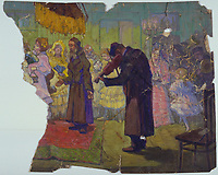 Moshe Rynecki painting - wedding dance torn<br /> Chasing Portraits (2018) <br /> *Filmstill - Editorial Use Only*<br /> CAP/RFS<br /> Image supplied by Capital Pictures
