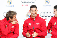 Coentrao, Cristiano Ronaldo and James participates and receives new Audi during the presentation of Real Madrid's new cars made by Audi in Madrid. December 01, 2014. (ALTERPHOTOS/Caro Marin) /Nortephoto