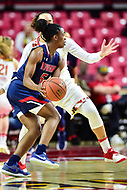 College Park, MD - NOV 21, 2017: Howard Bison guard Sarah Edmond (5) in action during game between the Howard Lady Bison and the Maryland Terrapins at the XFINITY Center in College Park, MD.  (Photo by Phil Peters/Media Images International)