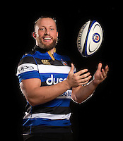 Max Lahiff poses for a portrait at a Bath Rugby photocall. Bath Rugby Photocall on November 22, 2016 at Farleigh House in Bath, England. Photo by: Rogan Thomson / JMP / Onside Images