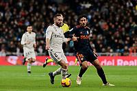 Real Madrid's Dani Carvajal and Valencia CF's Daniel Parejo during La Liga match between Real Madrid and Valencia CF at Santiago Bernabeu Stadium in Madrid, Spain. December 01, 2018. (ALTERPHOTOS/A. Perez Meca) /NortePhoto NORTEPHOTOMEXICO