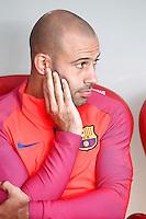 FC Barcelona's Javier Mascherano during La Liga match. August 28,2016. (ALTERPHOTOS/Acero) /NORTEPHOTO