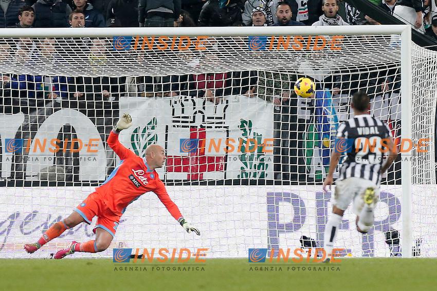 Gol di Paul Pogba Juventus, Goal Celebration, Torino 10-11-2013, Juventus Stadium, Football Calcio 2013/2014 Serie A, Juventus - Napoli, Foto Marco Bertorello/Insidefoto