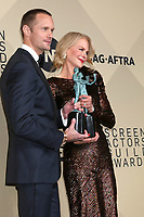 LOS ANGELES - JAN 21:  Alexander Skarsgard, Nicole Kidman at the 24th Screen Actors Guild Awards - Press Room at Shrine Auditorium on January 21, 2018 in Los Angeles, CA