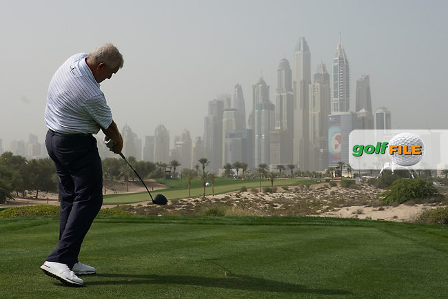 Colin Montgomerie (SCO) in action during the first round of the Omega Dubai Desert Classic, Emirates Golf Club, Dubai, UAE. 24/01/2019<br /> Picture: Golffile | Phil Inglis<br /> <br /> <br /> All photo usage must carry mandatory copyright credit (&copy; Golffile | Phil Inglis)