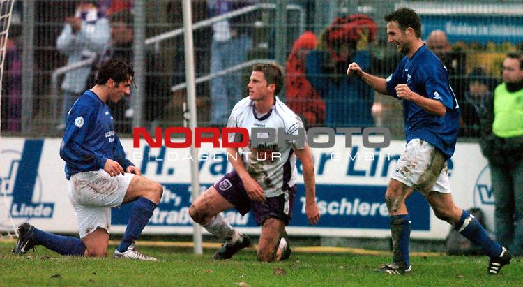 RLN 2005/2006 -18 . Spieltag - Hinrunde<br /> <br /> Kickers Emden vs. VFL Osnabrueck <br /> <br /> <br /> <br /> Tor  linksMassimo cannizzaro mitte Daniel Flottmann Hannes Wilking<br /> <br /> <br /> <br /> <br /> <br /> <br /> <br /> <br /> <br /> <br /> <br /> Foto &copy; nordphoto <br /> <br /> <br /> <br /> <br /> <br /> <br /> <br />  *** Local Caption *** Foto ist honorarpflichtig! zzgl. gesetzl. MwSt.<br /> <br /> <br /> <br />  Belegexemplar erforderlich<br /> <br /> <br /> <br /> Adresse: nordphoto<br /> <br /> <br /> <br /> Georg-Reinke-Strasse 1<br /> <br /> <br /> <br /> 49377 Vechta