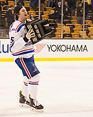 Ryan Dmowski (UML - 15) The University of Massachusetts-Lowell River Hawks defeated the Boston College Eagles 4-3 to win the 2017 Hockey East tournament at TD Garden on Saturday, March 18, 2017, in Boston, Massachusetts.