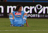 Edinson Cavani of Napoli  look up during  Italian Serie A soccer match against Inter at the San Paolo stadium in Naples.NAPOLI 05/05/2013 -.CALCIO SERIE A 2012/2013 . NAPOLI - INTER - .NELLA FOTO  EDINSON CAVANI.FOTO CIRO DE LUCA