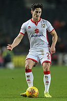 January transfer target George Williams of MK Dons during the Sky Bet League 1 match between MK Dons and AFC Wimbledon at stadium:mk, Milton Keynes, England on 13 January 2018. Photo by David Horn.