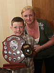 Junior Athlete of the Year, Cian O'Rourke with his mother Roisin at the Special Olympics Awards Night in the Westcourt Hotel...Photo NEWSFILE/Jenny Matthews.(Photo credit should read Jenny Matthews/NEWSFILE)....This Picture has been sent you under the condtions enclosed by:.Newsfile Ltd..The Studio,.Millmount Abbey,.Drogheda,.Co Meath..Ireland..Tel: +353(0)41-9871240.Fax: +353(0)41-9871260.GSM: +353(0)86-2500958.email: pictures@newsfile.ie.www.newsfile.ie.FTP: 193.120.102.198.