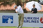 Soren Kjeldsen (DEN) tees off at the 1st tee during Day 2 Friday of the Open de Andalucia de Golf at Parador Golf Club Malaga 25th March 2011. (Photo Eoin Clarke/Golffile 2011)