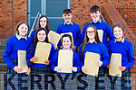 Milltown Presentation Junior Certs were happy to collect theri results on Wednesday l-r: Aoife Kissane, Leanne Kerins, Amanda Flynn, Caoimhe Burke, Shona Murphy. Back row: Molly Rowe, Cian Doe and Liam Smith