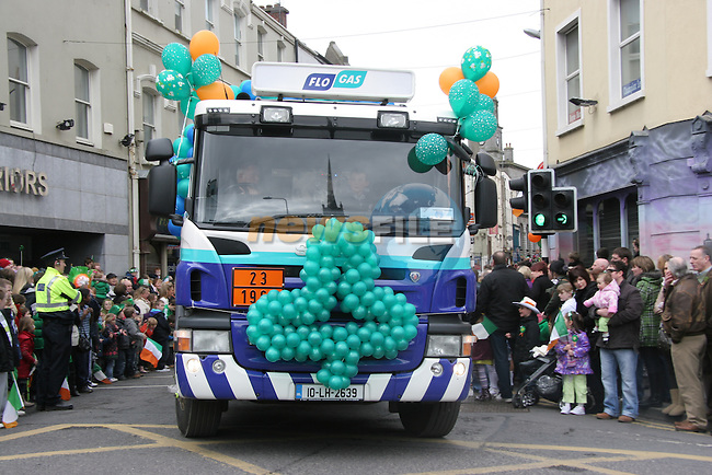 Flo Gas, St. Patrick's Day Parade 2011..Picture: Shane Maguire / www.newsfile.ie.