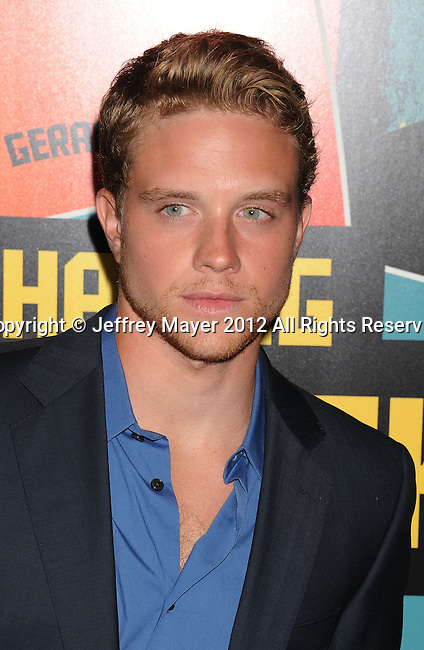 LOS ANGELES, CA - OCTOBER 18: Jonny Weston arrives at the 'Chasing Mavericks' - Los Angeles Premiere at Pacific Theaters at the Grove on October 18, 2012 in Los Angeles, California.