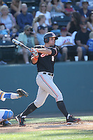 Billy King (19) of the Oregon State Beavers bats during a game against the UCLA Bruins at Jackie Robinson Stadium on April 4, 2015 in Los Angeles, California. UCLA defeated Oregon State, 10-5. (Larry Goren/Four Seam Images)