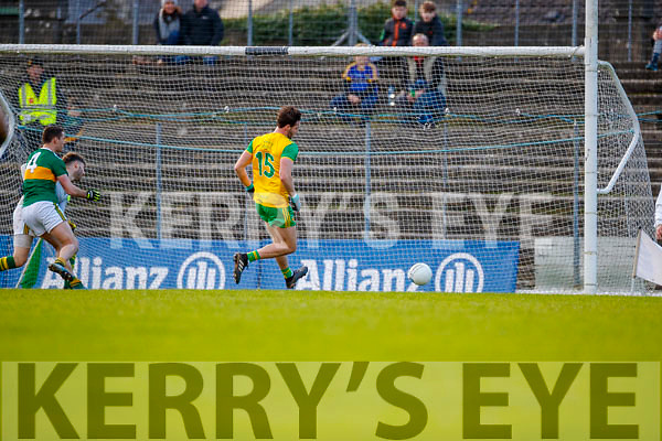 Odhran MacNiallais Donegal scores a goal in the Allianz Football League Division 1 Round 1 match between Kerry and Donegal at Fitzgerald Stadium in Killarney, Co. Kerry.
