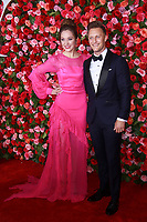 NEW YORK, NY - JUNE 10:  Laura Osnes and Nathan Johnson  at the 72nd Annual Tony Awards at Radio City Music Hall in New York City on June 10, 2018.