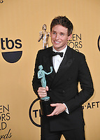 Eddie Redmayne at the 2015 Screen Actors Guild  Awards at the Shrine Auditorium.<br /> January 25, 2015  Los Angeles, CA<br /> Picture: Paul Smith / Featureflash