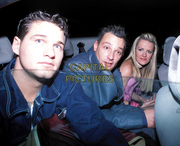 HAYLEY EVETTS & TOBY ANSTIS.Maid In Manhattan Premiere after party at Mezzo, Wardour St.taxi cab.Ref: AH.www.capitalpictures.com.sales@capitalpictures.com.© Capital Pictures