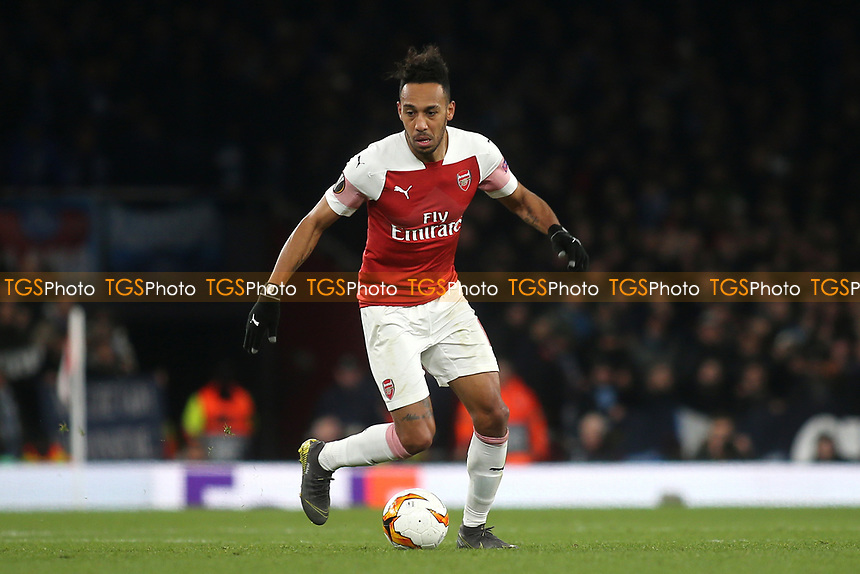 Pierre-Emerick Aubameyang of Arsenal during Arsenal vs Napoli, UEFA Europa League Football at the Emirates Stadium on 11th April 2019
