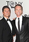 David Burtka and Neil Patrick Harris pictured at the 66th Annual Tony Awards held at The Beacon Theatre in New York City , New York on June 10, 2012. © Walter McBride / WM Photography