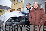 VANDALISM: Residents in Spa Road were left angry and devastated after seven cars were severly vandalised in the early hours of Wednesday morning. Pictured were:  John C Lawlor and Margaret Cahill.