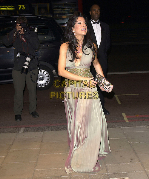 NANCY DELL'OLIO.arrivals at The Pink Ice Ball in aid of Cancer Research.Dorchester Hotel .London  07 October 2005.© Steve Finn/Capital Pictures.Ref: FIN.full length pink pleated dress clutch.www.capitalpictures.com.sales@capitalpictures.com.© Capital Pictures.