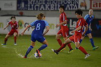 20190304 - LARNACA , CYPRUS : Finnish midfielder Olga Ahtinen pictured during a women's soccer game between Finland and Korea DPR , on Monday 4 March 2019 at the Antonis Papadopoulos Stadium in Larnaca , Cyprus . This is the third game in group A for Both teams during the Cyprus Womens Cup 2019 , a prestigious women soccer tournament as a preparation on the Uefa Women's Euro 2021 qualification duels. PHOTO SPORTPIX.BE | STIJN AUDOOREN