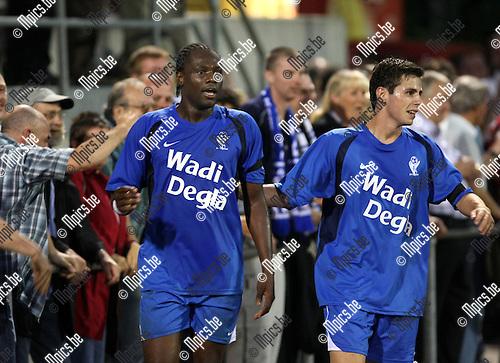 2008-08-30 / Voetbal / KV Turnhout - RC Mechelen / Ben Mbemba scoorde de 2-0..Foto: Maarten Straetemans (SMB)