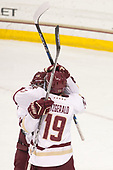 Austin Cangelosi (BC - 9), Ryan Fitzgerald (BC - 19) - The visiting Merrimack College Warriors defeated the Boston College Eagles 6 - 3 (EN) on Friday, February 10, 2017, at Kelley Rink in Conte Forum in Chestnut Hill, Massachusetts.