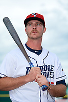 Binghamton Mets Peter Alonso (16) poses for a photo before a game against the Erie SeaWolves on May 14, 2018 at NYSEG Stadium in Binghamton, New York.  Binghamton defeated Erie 6-5.  (Mike Janes/Four Seam Images)