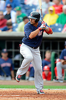 Boston Red Sox outfielder Shane Victorino #18 during a Spring Training game against the Philadelphia Phillies at Bright House Field on March 24, 2013 in Clearwater, Florida.  Boston defeated Philadelphia 7-6.  (Mike Janes/Four Seam Images)
