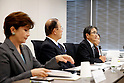 (L-R)  Mari Christine, Toshiro Muto, Ryohei Miyata, Ai Sugiyama,<br /> SEPTEMBER 18, 2015 :<br /> The 1st Preparatory Committee towards the Tokyo 2020 Olympic and Paralympic Games emblem selection is held in Tokyo, Japan. (Photo by Shugo TAKEMI/Tokyo2020/AFLO)