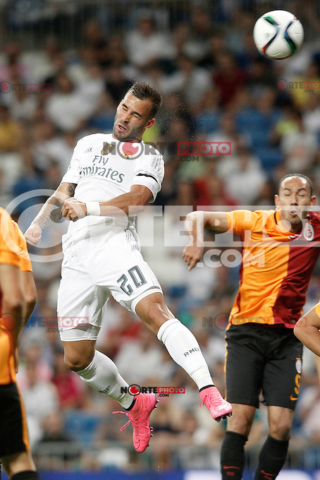 Real Madrid's Jese Rodriguez during XXXVI Santiago Bernabeu Trophy. August 18,2015. (ALTERPHOTOS/Acero)