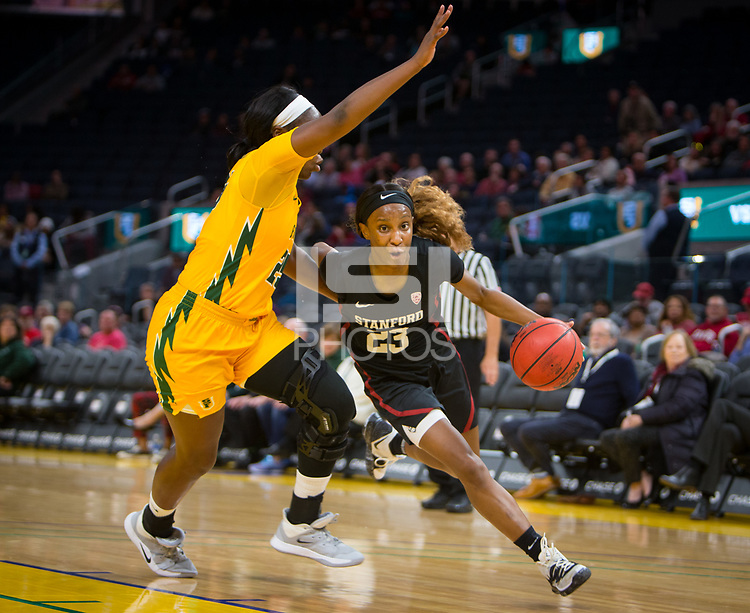 San Francisco, CA - November 9, 2019: Kiana Williams at the Chase Center. The Stanford Cardinal defeated the USF Dons 97-71.