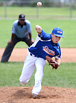 TORRINGTON CT. 28 July 2017-072817SV01-#7 Austin Brown of  Wolcott Storm pitches against Dallas Forth Worth in the 4th inning during the Mickey Mantle World Series in Torrington Friday.<br /> Steven Valenti Republican-American