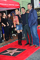 Gwen Stefani &amp; Adam Levine &amp; Blake Shelton at the Hollywood Walk of Fame Star Ceremony honoring singer Adam Levine. Los Angeles, USA 10 February  2017<br /> Picture: Paul Smith/Featureflash/SilverHub 0208 004 5359 sales@silverhubmedia.com