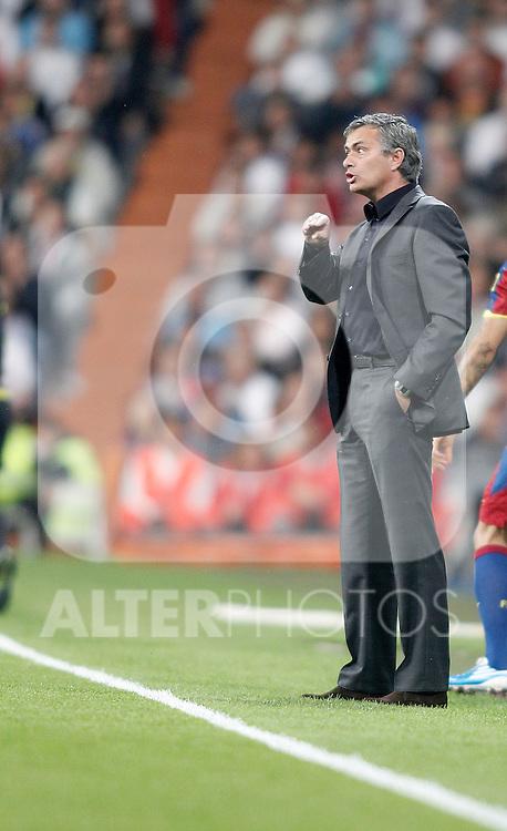 Real Madrid's coach coach Jose Mourinho during La Liga Match. April 16, 2011. (ALTERPHOTOS/Alvaro Hernandez)