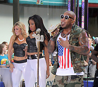 July 06, 2012 Flo Rida perform at the Toyota Concert Series on the Today Show  in New York City.Credit:© RW/MediaPunch Inc. /*NORTEPHOTO* <br />